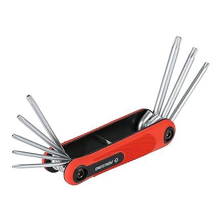 PENGGONG PENGGONG 8PCS Destornillador hexagonal plegable Llave de tornillo Destornillador hexagonal de varios tamaños Llave para