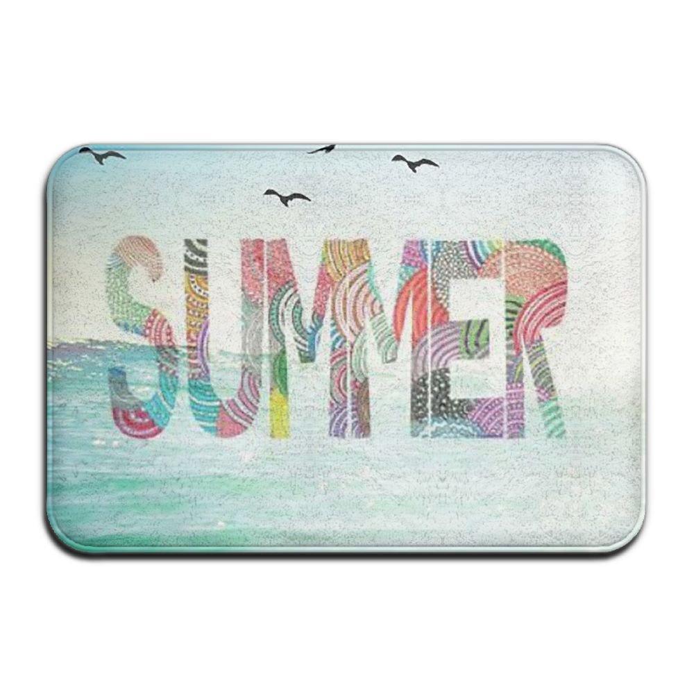BINGO BAG Summer Sun Indoor Outdoor Entrance Printed Rug Floor Mats Shoe Scraper Doormat For Bathroom, Kitchen, Balcony, Etc 16 X 24 Inch