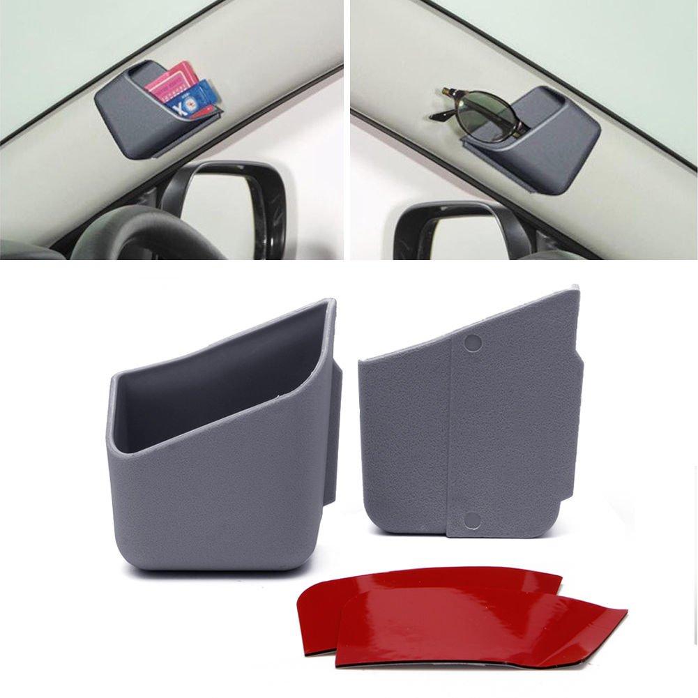AMRkA太陽眼鏡/メガネホルダー車用バイザーユニバーサルPerfectストレージオーガナイザー – Easy Stick On – Holdingカードと携帯電話にも理想的 2.76