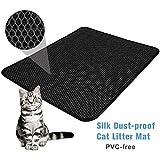 """FOCUSPET Cat Litter Mat Cat Litter Trapper Size 26"""" X 22"""", Waterproof Honeycomb Double-Layer Design, Easy Clean Urine Proof EVA Material Pet Litter Mat"""