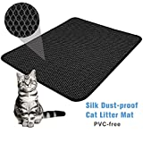 "FOCUSPET Cat Litter Mat Litter Trapper Large Size 26"" X 22"", Honeycomb Double-Layer Design Waterproof/Urine Proof EVA Material, Easy Clean Floor/Carpet Protection"
