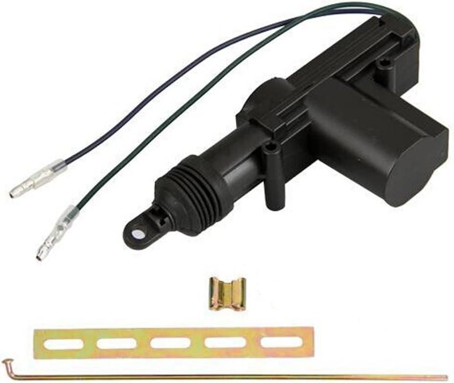 Supmico 2 X auto in plastica nera porta potere pesanti universale blocco attuatore 2 fili 12V ad alta potenza
