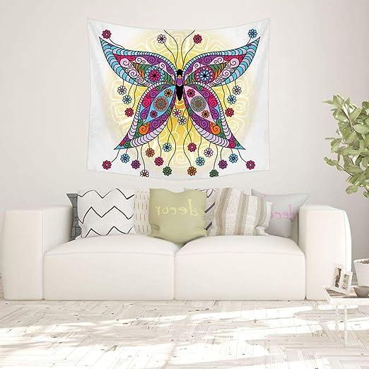 xkjymx Fac Directa tapicería de Lona Colorida Mariposa ...