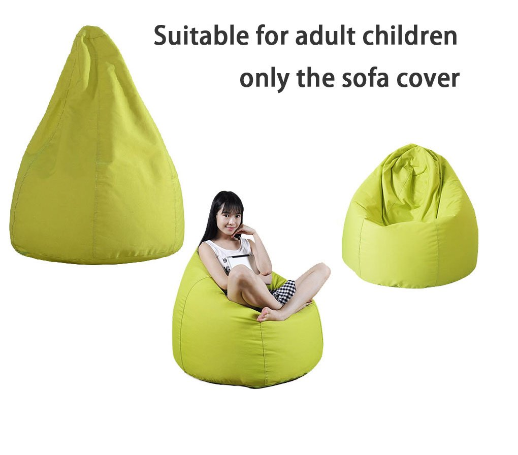 QuWei Childrens DIY Bean Bags Chair Comfortable Mini Sofa Indoor/Outdoor Soft Floor Cushion for Kids (Cover of chair)
