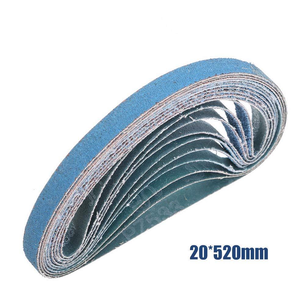 Pack of 10pcs Sanding Belts MASO 20mm x 520mm 60 Grits Power Tool Sander Abrasive Sanding Belts Metal Grinding Sanding Belts for Power Tool Sander