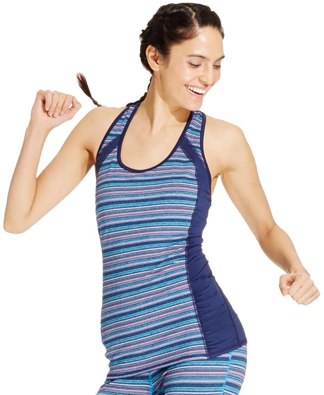 Ideology Women's Striped Crisscross Ruched Tank Top Shirt