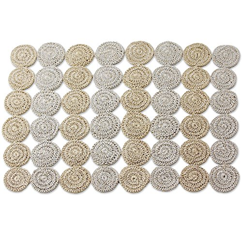 NOVICA 259078 Circular Allure' (Set of 4) Hand-Crocheted placemats