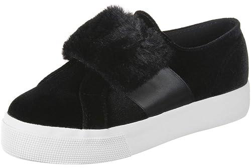 Sneaker 999 2399 VELVCHENILLESTRAPECORFURW Black Superga
