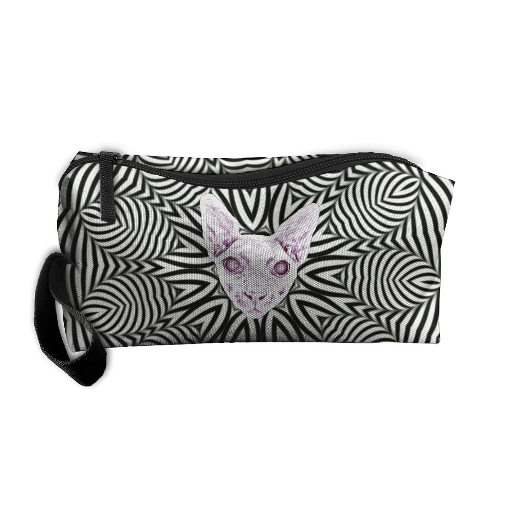 Cat Art Surprise.jpeg Pattern Makeup Bag Calico Girl Women Travel ...