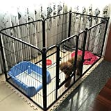 6 panel dog pen - Paw Essentials Heavy Duty Pet Play and Exercise Pen with 6 Panels - 29 x 31.5in each Panel, (Black)
