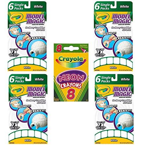 Crayola Model Magic Single Packs White (4 Pack Bundle) by Crayola