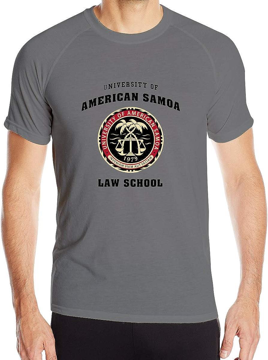 University of American Samoa Law School Mens Quick-Dry Tee Top Sports Short Sleeve T-Shirt Black