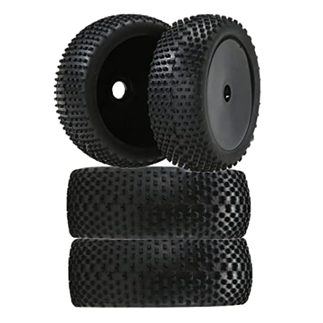 Homyl 4pcs 1/8 Buggy On-Road Tire Tyre RC Ruedas para Redcat HSP
