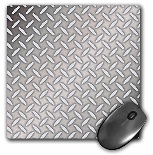 "Price comparison product image 3D Rose ""Gray Steel Diamond Plate Industrial Pattern"" Matte Finish Mouse Pad - 8 x 8"" - mp_219468_1"