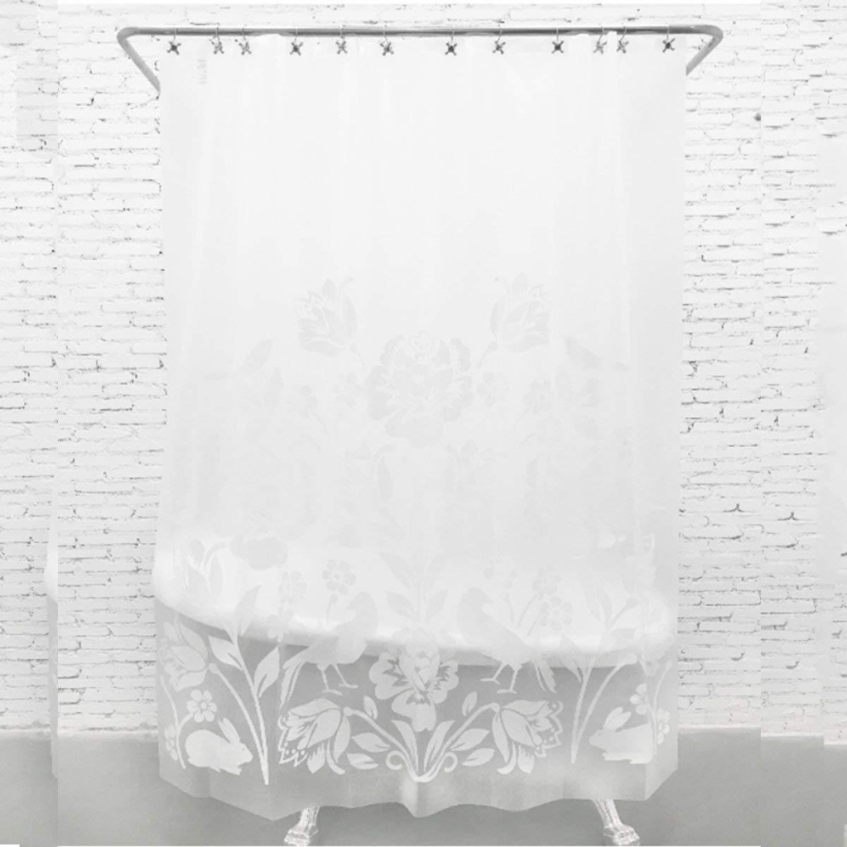 Der Innovative Paper Cutting Translucent Matt Blinds Thickening EVA Baths Free Punching Shower Curtains Antibacterial Mold Molds Bathroom Accessories