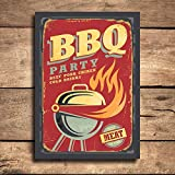 Placa Decorativa MDF Churrasco BBQ Party