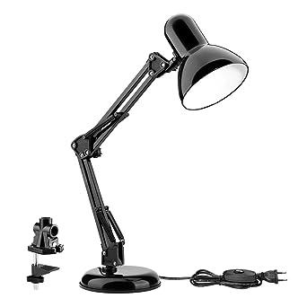 Le Lampe De Bureau Led Avec Bras Pliable Culot E27 Vintage Option