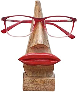 Nirvana Class Quirky Wooden Nose Shaped Eyeglass Spectacle Holder Display Stand Home Decorative Gift Home Décor
