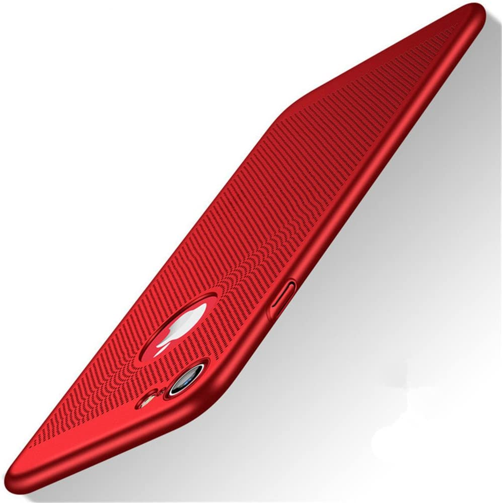 """Heyqie Slim Fit iPhone 7 Breathable Cover, Ultra-Thin [Skin Touch Feel][Heat Dissipating] Anti-Fingerprint/Skid/Fade Protective Cooling PC Back Case Compatible with iPhone 7 4.7"""""""
