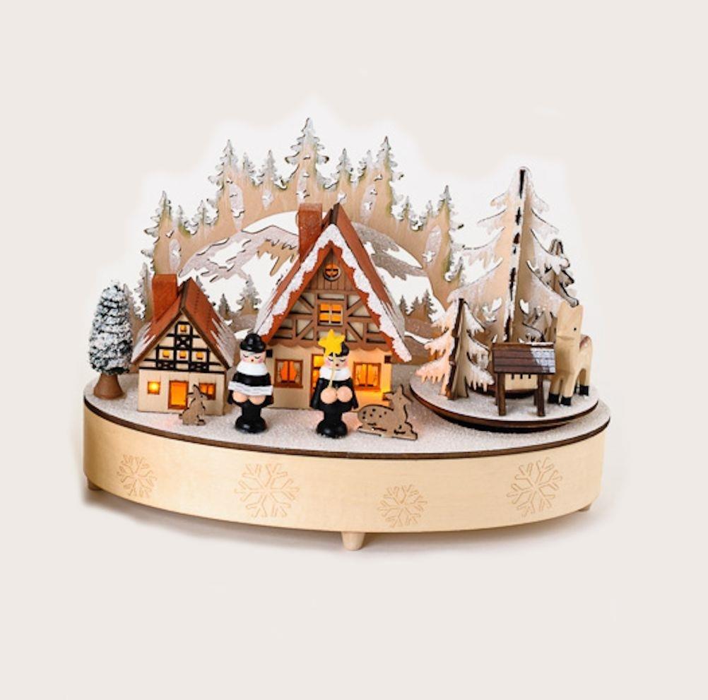 2018新入荷 B016A4QCAQ180度クリスマス村Alpine Chalet木製シーン音楽ボックス B016A4QCAQ, エムトラCARショップ:de19dcc3 --- arcego.dominiotemporario.com
