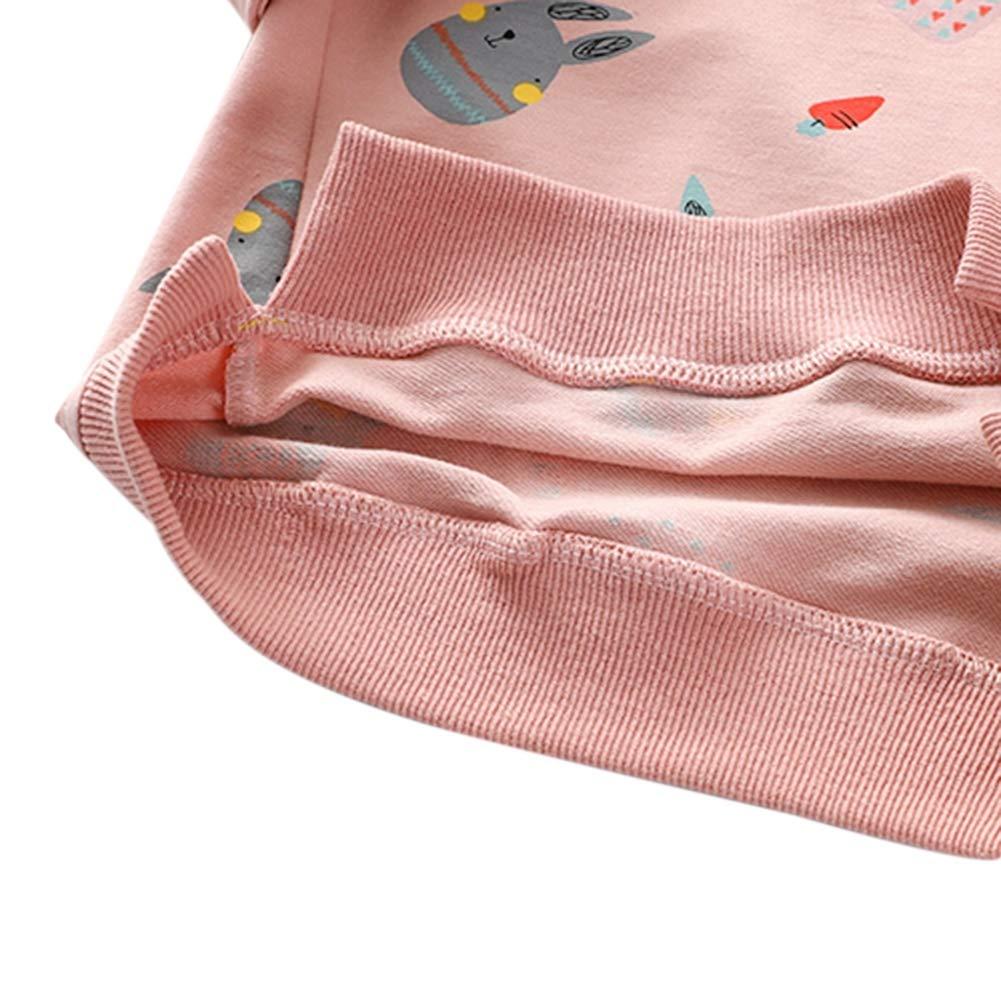 60513c0f7 BAOBAOLAI Little Girls Kids Long Sleeve Sweatshirts Children Sun Rainbow  Rabbits Floral Tops Jumper Shirts for