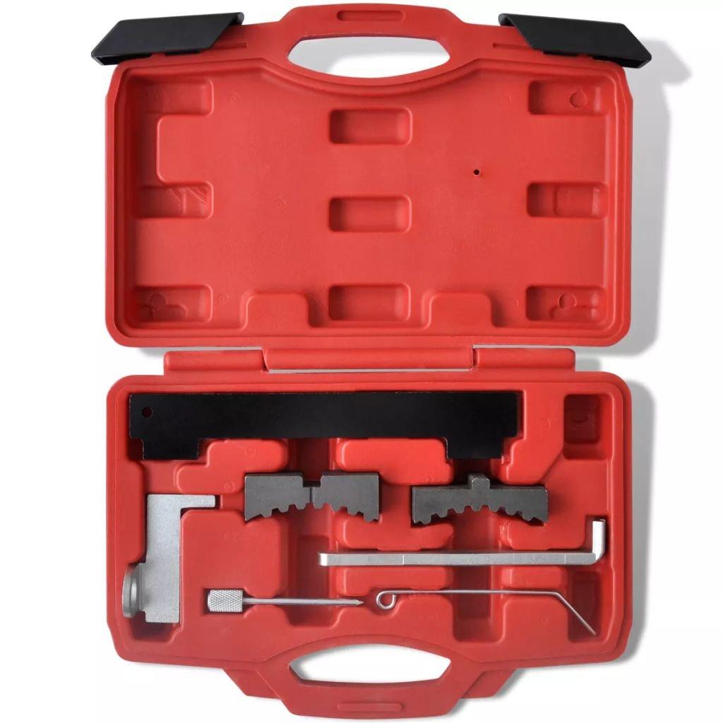 Vislone Conjunto de Herramienta de Reemplazo de Sincronización del Motor con 7 Piezas 24 x 16,5 x 5 cm 0,8 kg Rojo: Amazon.es: Hogar