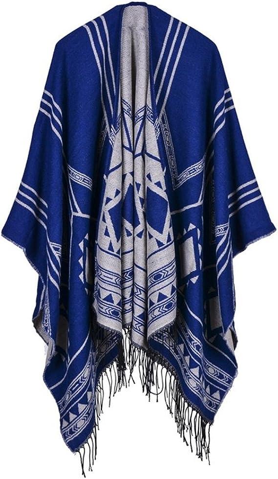 Honghu Cape Poncho Femme Tricot,Poncho Capes Ch/âle Ouverture Extra Large /écharpe Ch/âle Poncho Automne Hiver