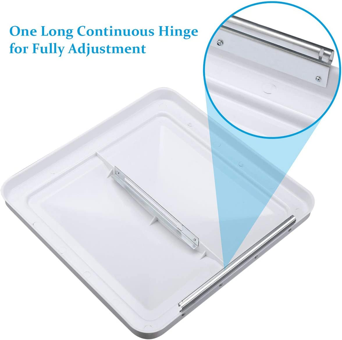 VETOMILE RV Roof Vent Lid Cover Universal Replacement 14 Inch White for Camper Trailer (1 Pack): Home Improvement