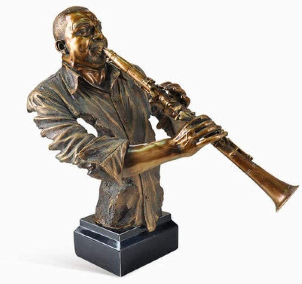 MFHDK Statues Sculptue Sculptures,Decorative Object for Home,Art,Collection Office,Figurine Statues Statue Character Musician Statue Resin Crafts Home Decoration A