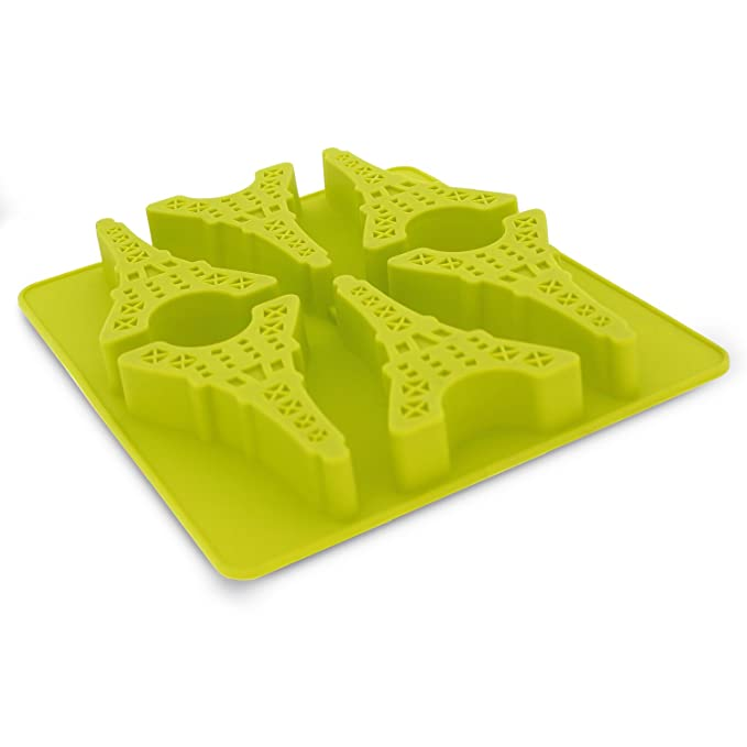 Elbee 6 Piece Silicone Eiffel Tower Tray For Making Homemade Ice, Candy, Chocolate, Gummy, Jello, And More by Elbee