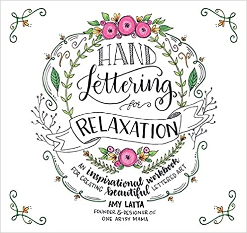 Hand Lettering for Relaxation book. #artinstruction #howto #handlettering #calligraphy