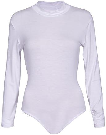 Purple Hanger - Body Justaucorps Pour Femme Col Haut Longue Manche Stretch  Fermeture Pression - 36 26ddc6d2110