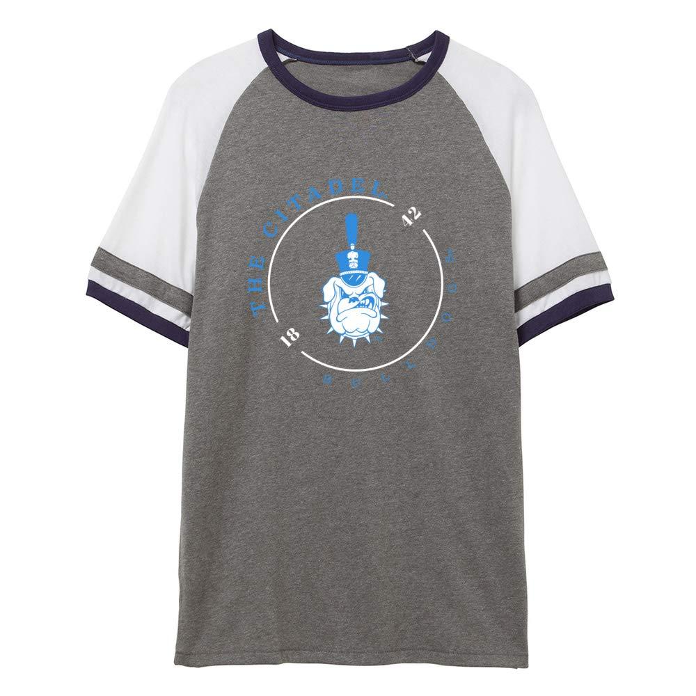 NCAA The Citadel Bulldogs RYLCIT11 Unisex Slapshot Vintage Jersey T-Shirt