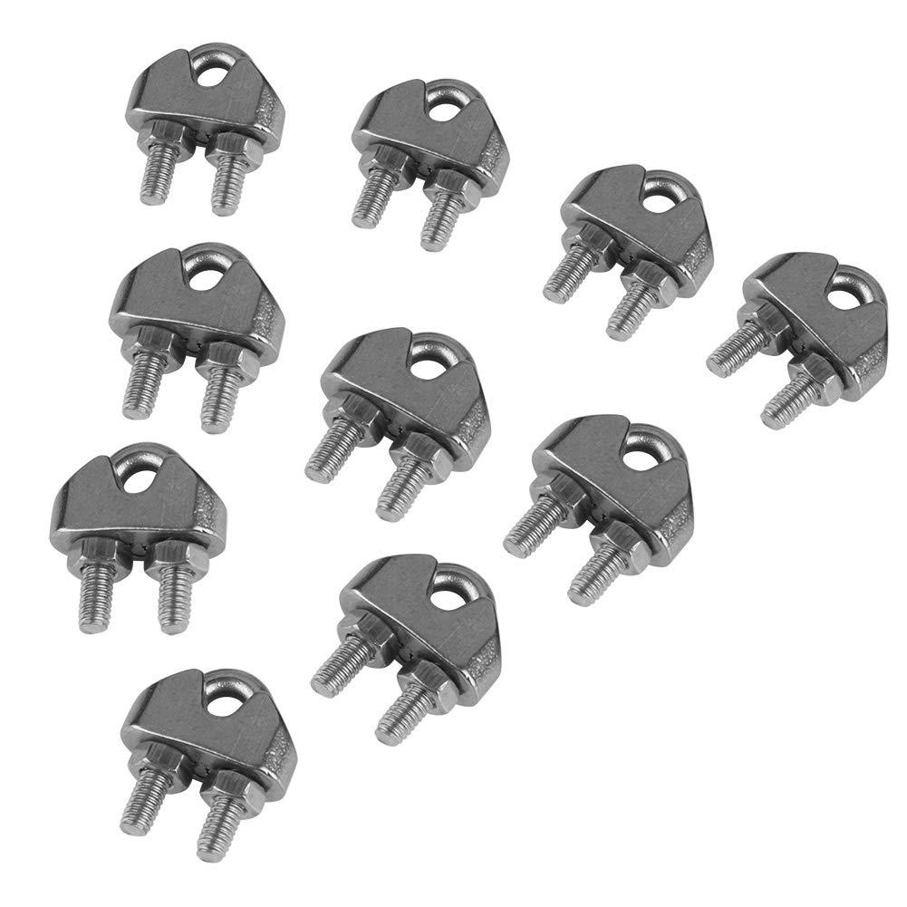 10/pi/èces M3/en acier inoxydable 304/Selle Colliers de serrage c/âble c/âble m/étallique Clips Clamp Fermeture