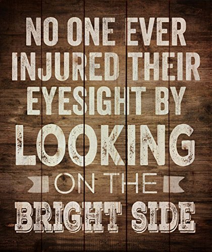 Look on the Bright Side Distressed Design 21 x 18 Wood Pallet Wall Art Sign Plaque