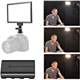 SUPON LED-L122T RA CRI95 Super Slim LCD Display Lighting Panel,Portable Dimmable 3300K-5600K LED Video Light Compatible Canon,Nikon,Pentax,Sony,Olympus Cameras&Camcorder,Shooting+NP-F550 Battery