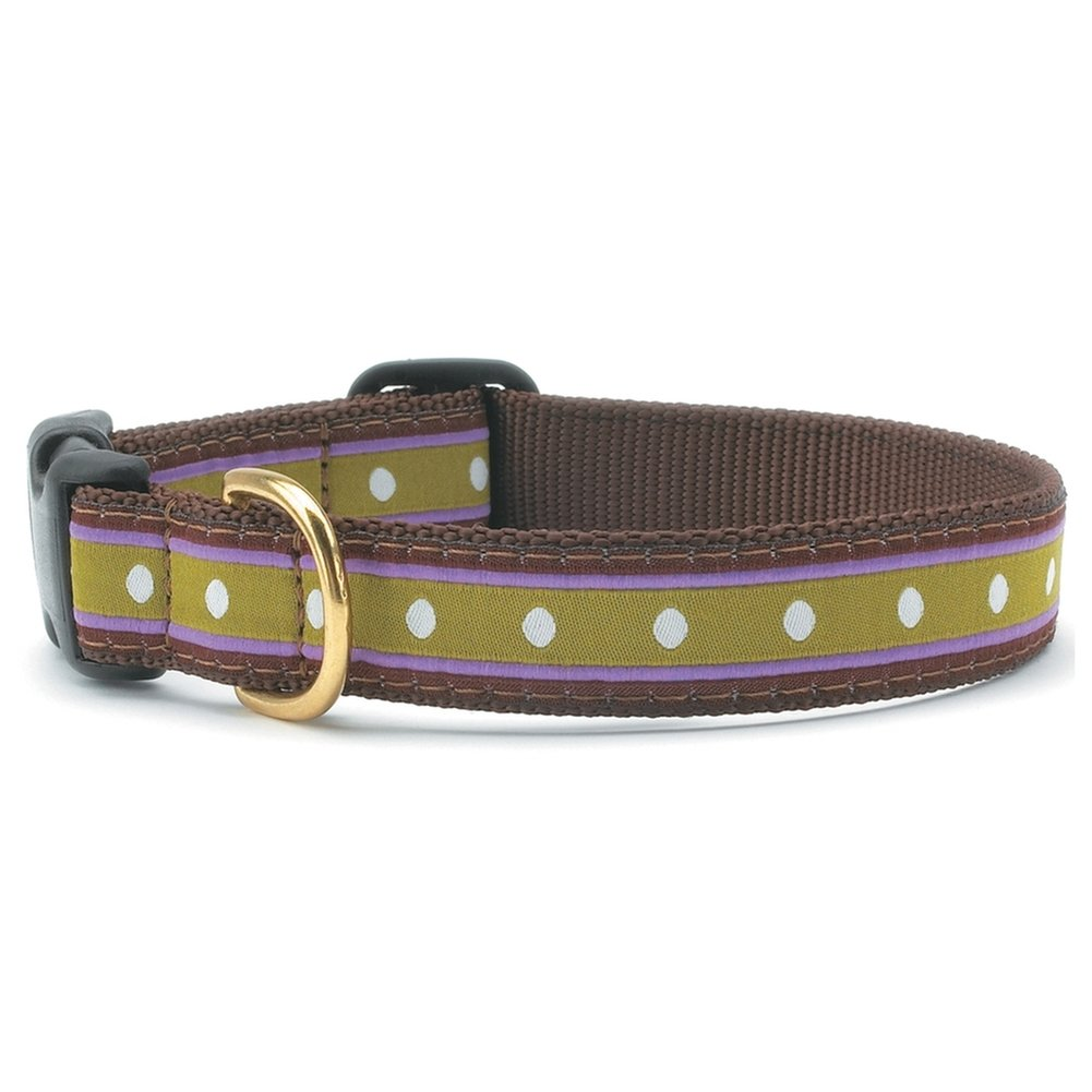 MD (W) Up Country Dotty Stripe Dog Collar Med (W) by Up Country
