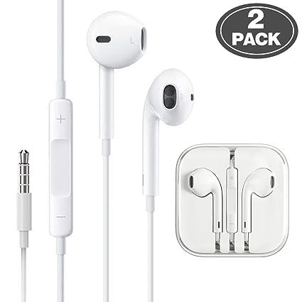 faee26648b9 (2 Pack) Aux Headphones/Earphones/Earbuds 3.5mm Wired Headphones Noise  Isolating