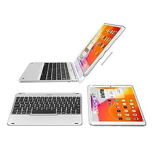 iPad 10.2-inch Keyboard, Arteck Ultra-Thin Bluetooth Keyboard with Folio Full Protection Case for Apple iPad 7 10.2-inch (2019) with 130 Degree Swivel Rotating (Tamaño: iPad 7 10.2-inch)