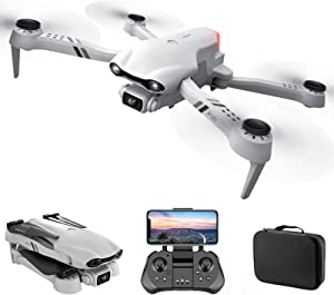 GPS WiFi FPV Drone with 4K Dual Camera Mini Drones with VR Glasses Foldable Drone RC Quadcopter Gesture Photo Follow Me one Key to Return Home, Trajectory Flight,2battery