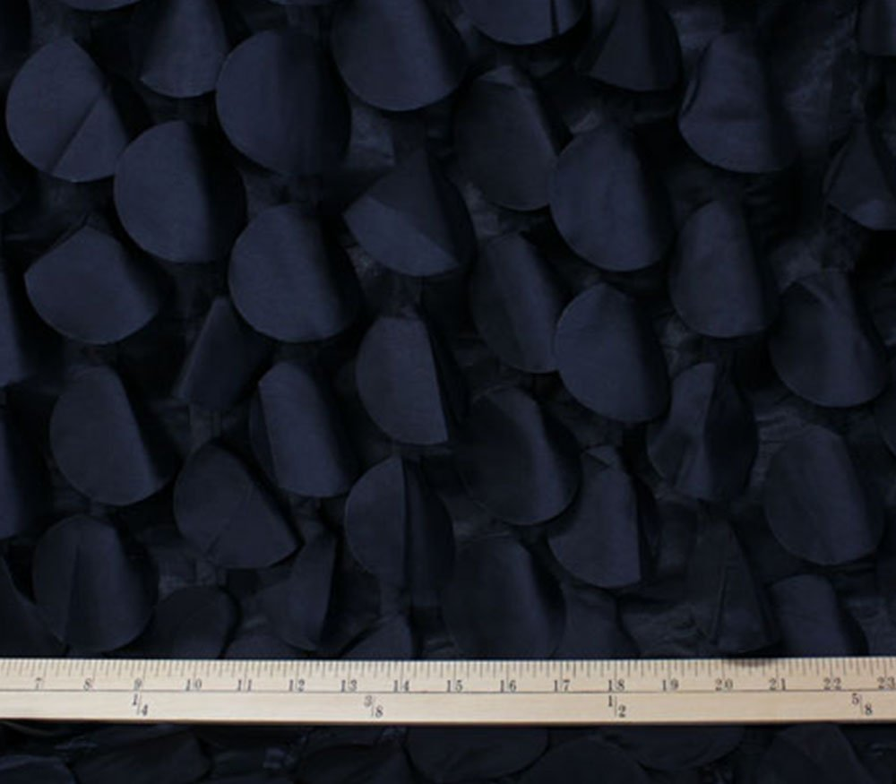 TAFFETA FABRIC ROUND PETAL BLACK / 54 WIDE / SOLD BY THE Yard by FABRIC EMPIRE   B017AKRK5A