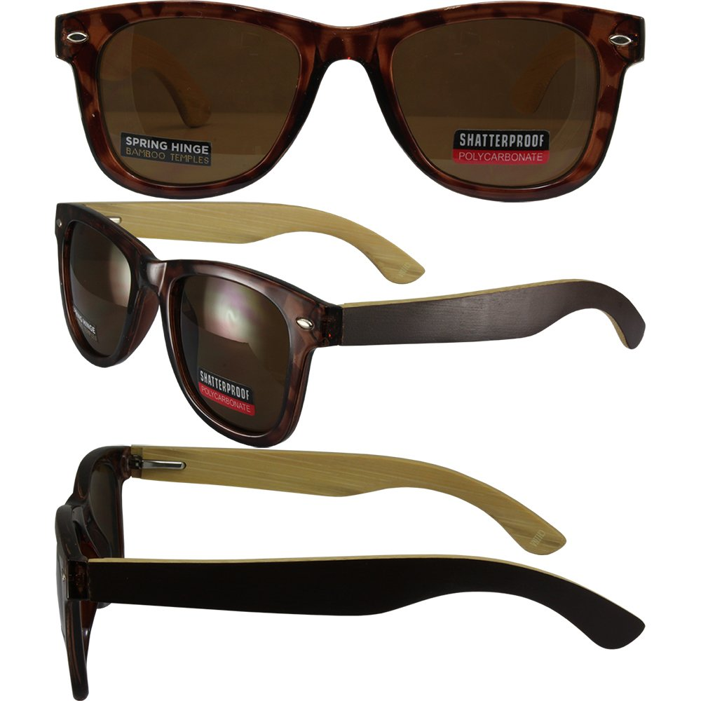 Swag Bamboo Wayfarer Style Sunglasses Naturally Floating ...