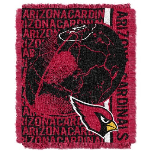 The Northwest Company NFL Arizona Cardinals Double Play Jacquard Throw, 48