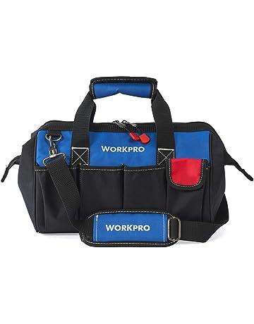 bc6e258b7f Workpro W081021 Borsa porta utensili per attrezzi ad apertura larga con  base anti-umidità,