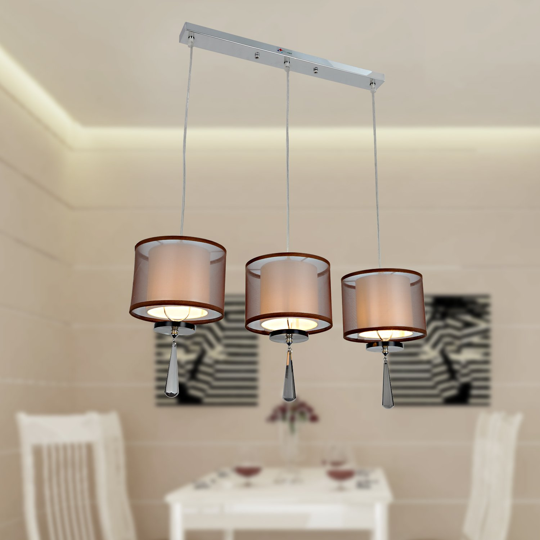 OOFAY LUCE 3 luce lampadario di cristallo moderno e minimalista sala ...