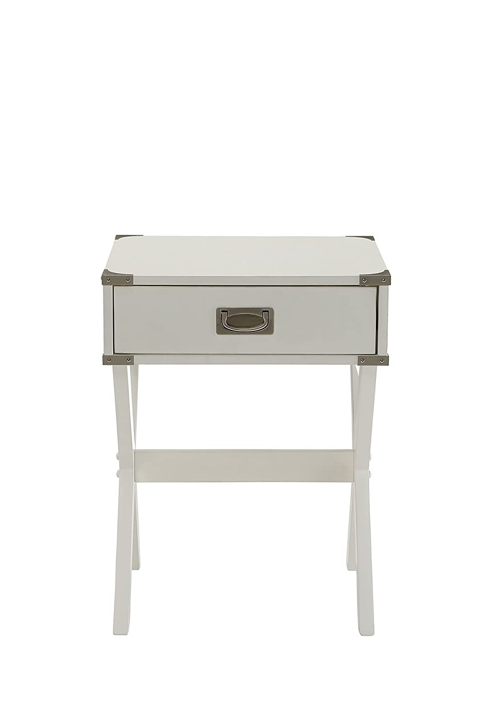 amazoncom acme furniture acme  babs end table white one  - amazoncom acme furniture acme  babs end table white one sizekitchen  dining