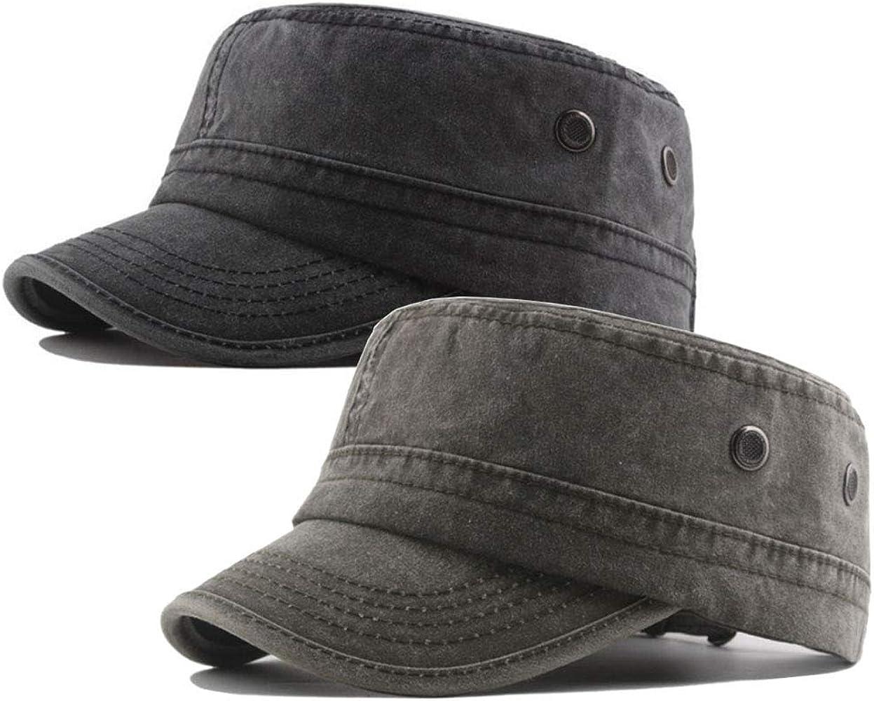 VINTAGE RETRO CADET CAP HAT 6 COLOURS ONE SIZE  ADJUSTABLE ARMY MILITARY