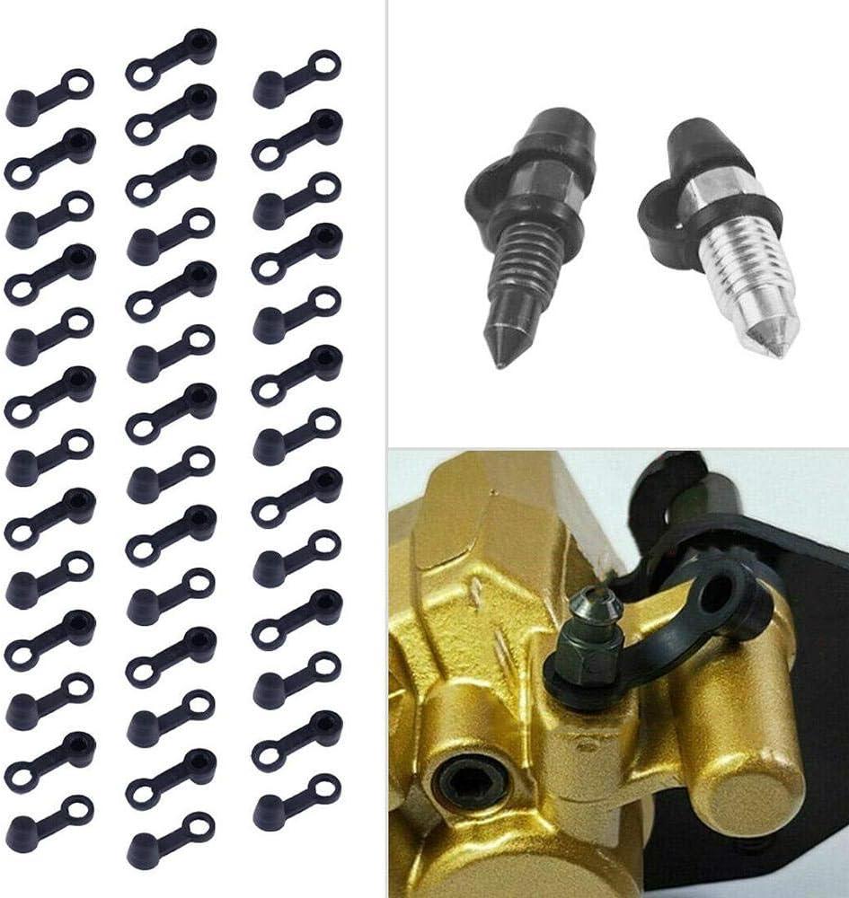 Bremssattel Entl/üftungsnippel Schraube Staubkappe Abdeckung 8mm Gummi F/ür Motorrad Auto Vipithy 40