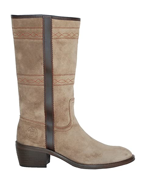 3154d85b14f6e ANDALUXX Alba Taupe Botas de Ante en Topo  Amazon.es  Zapatos y complementos