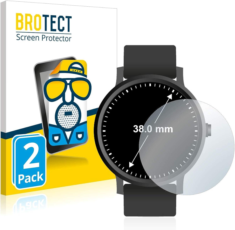 Di/ámetro: 31 mm Savvies Protector de Pantalla Compatible con Circular Displays 6 Unidades - Transparente